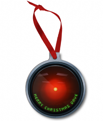 HAL 9000 Space Odyssey Christmas Ornament Ball Bauble